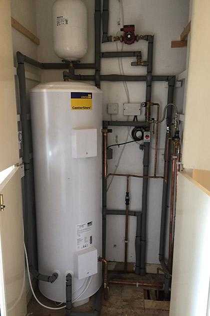 Unvented cylinder in Stamford